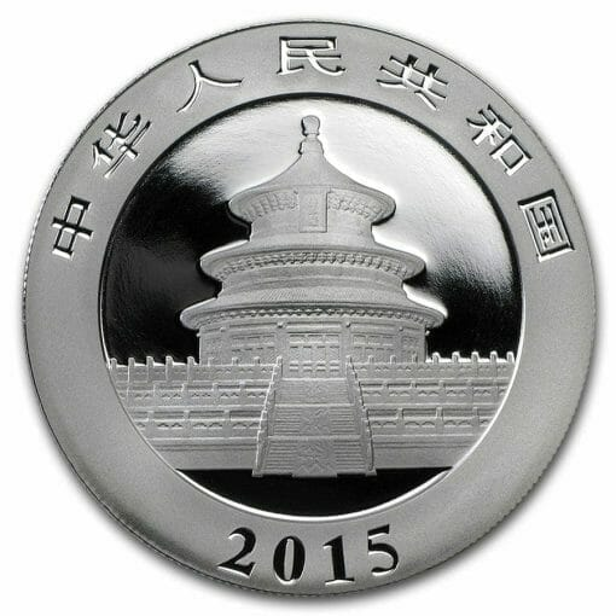 2015 Chinese Panda 1oz .999 Silver Bullion Coin - Toned 2