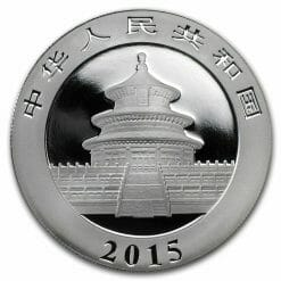 2015 Chinese Panda 1oz .999 Silver Bullion Coin - Toned 4