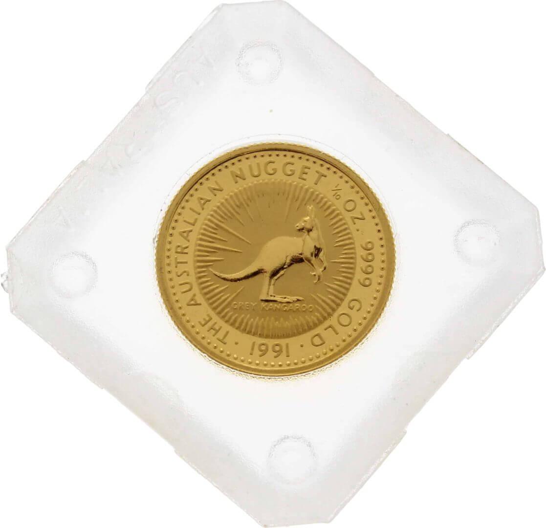 1991 The Australian Nugget Series 1/10oz .9999 Gold Bullion Coin 1