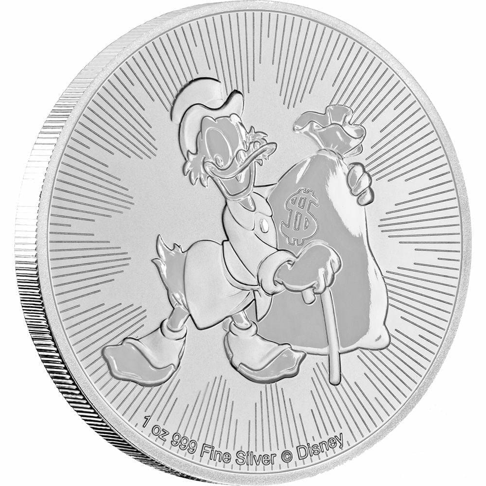 2018 Disney Scrooge McDuck 1oz .999 Silver Bullion Coin - New Zealand Mint 4