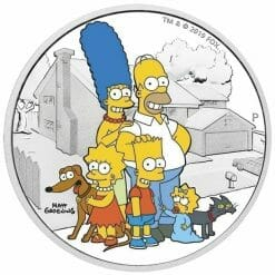 2019 The Simpsons The Family & Homer 2 Coin Set - Coloured 2oz & 1oz in Card 13