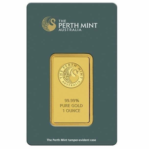 Perth Mint Kangaroo 1oz .9999 Gold Minted Bullion Bar - Green Security Card 1