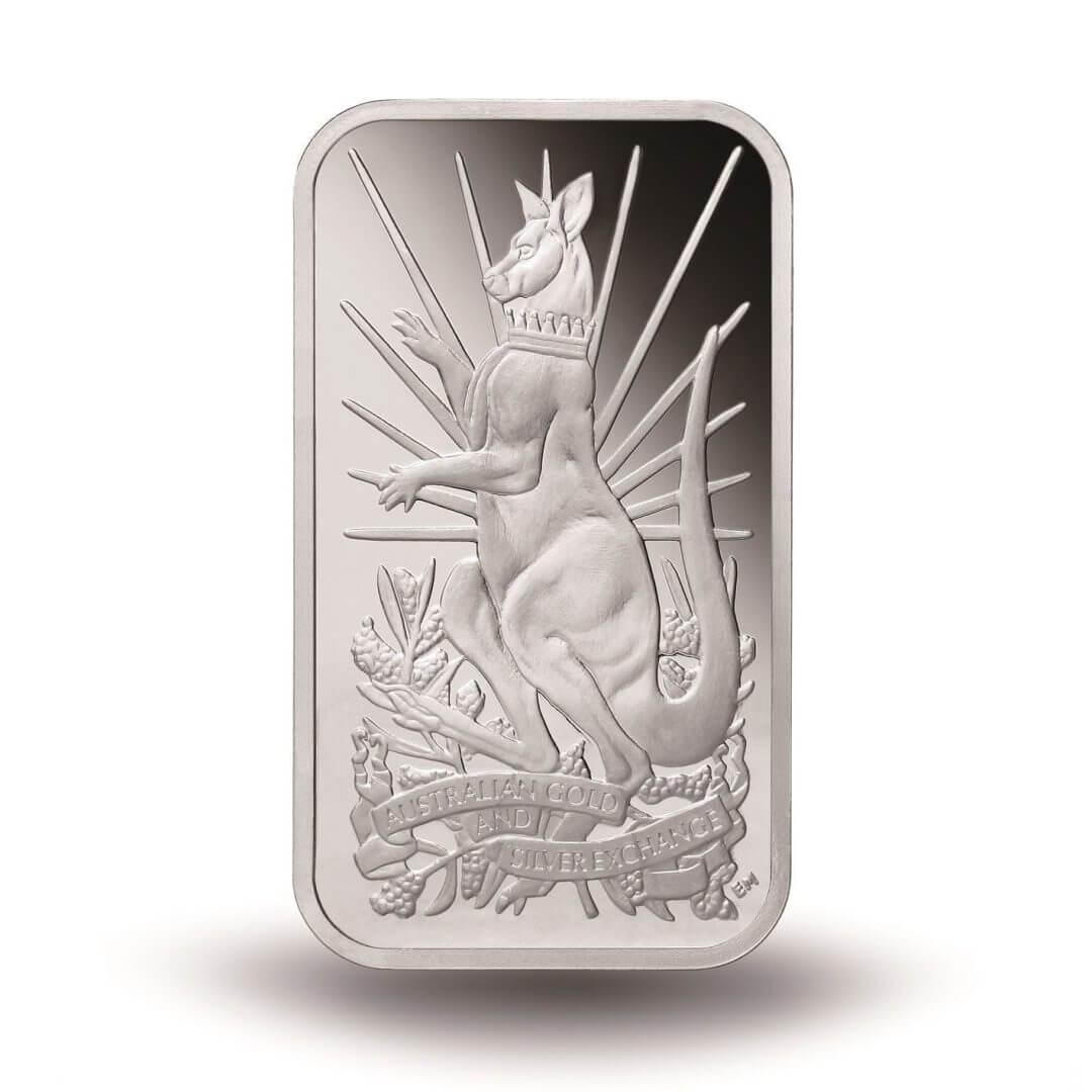 2014 Australian Kangaroo 10oz .999 Silver Minted Bullion Bar - XAG / AGSX 1