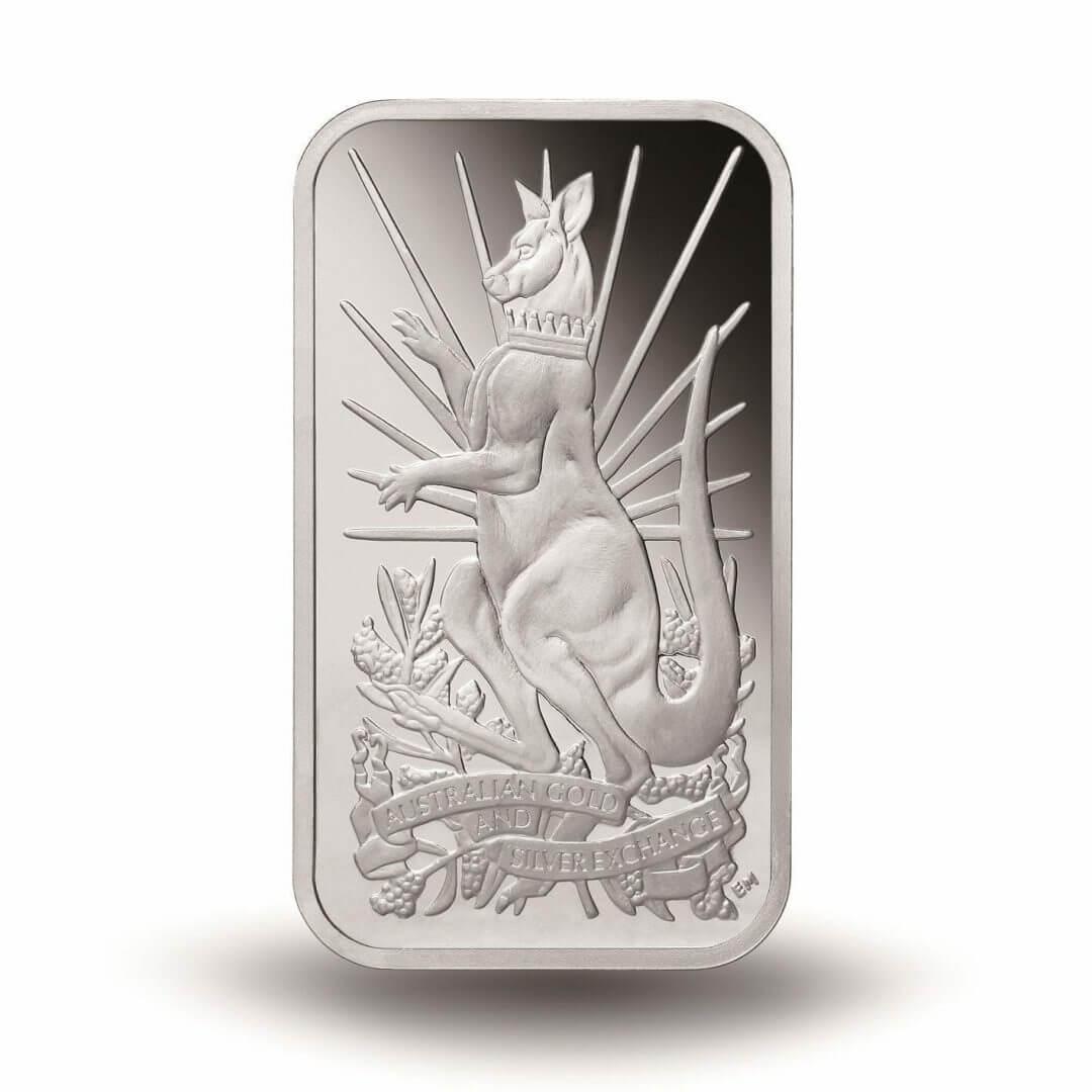 2014 Australian Kangaroo 5oz .999 Silver Minted Bullion Bar - XAG / AGSX 1