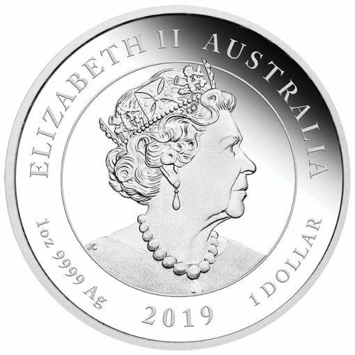 2019 50th Anniversary of the Moon Landing 1oz .9999 Silver Bullion Coin 3