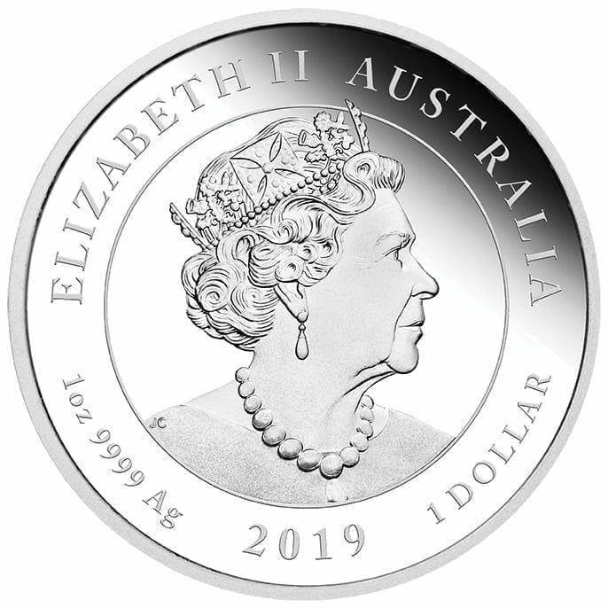 2019 50th Anniversary of the Moon Landing 1oz .9999 Silver Bullion Coin 5