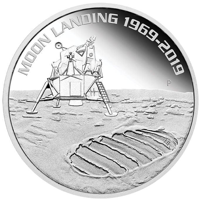 2019 50th Anniversary of the Moon Landing 1oz .9999 Silver Bullion Coin 1
