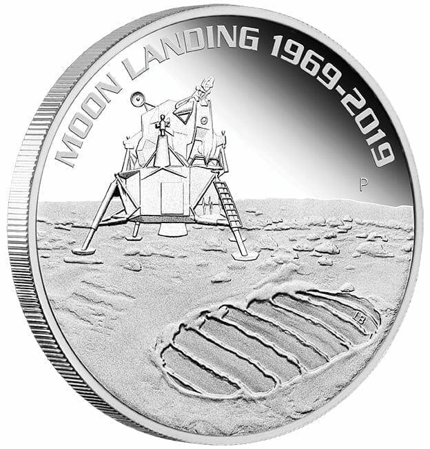 2019 50th Anniversary of the Moon Landing 1oz .9999 Silver Bullion Coin 2