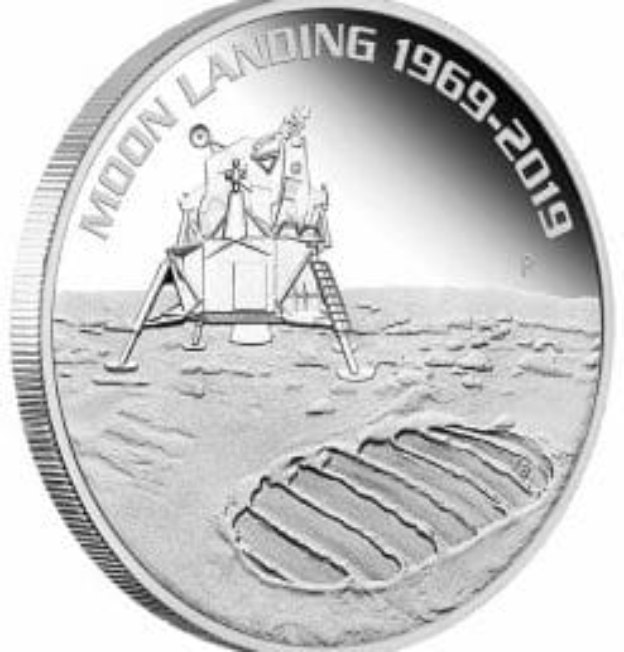 2019 50th Anniversary of the Moon Landing 1oz .9999 Silver Bullion Coin 4