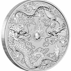 2019 1oz Australian Double Dragon .9999 Silver Coin 5