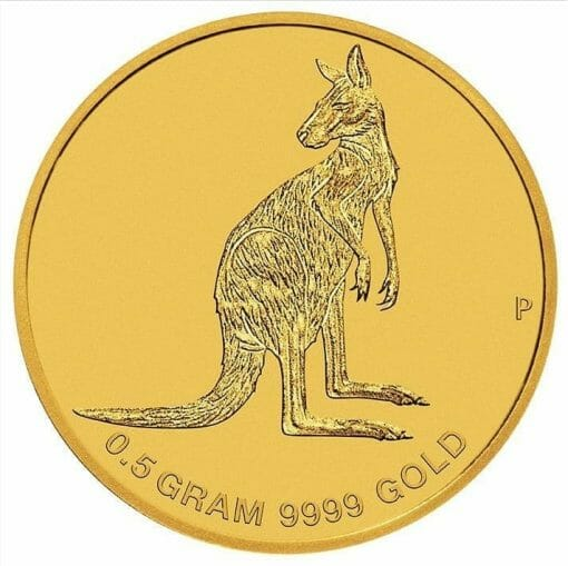 2016 Mini Roo 0.5g .9999 Gold Coin in Card 1
