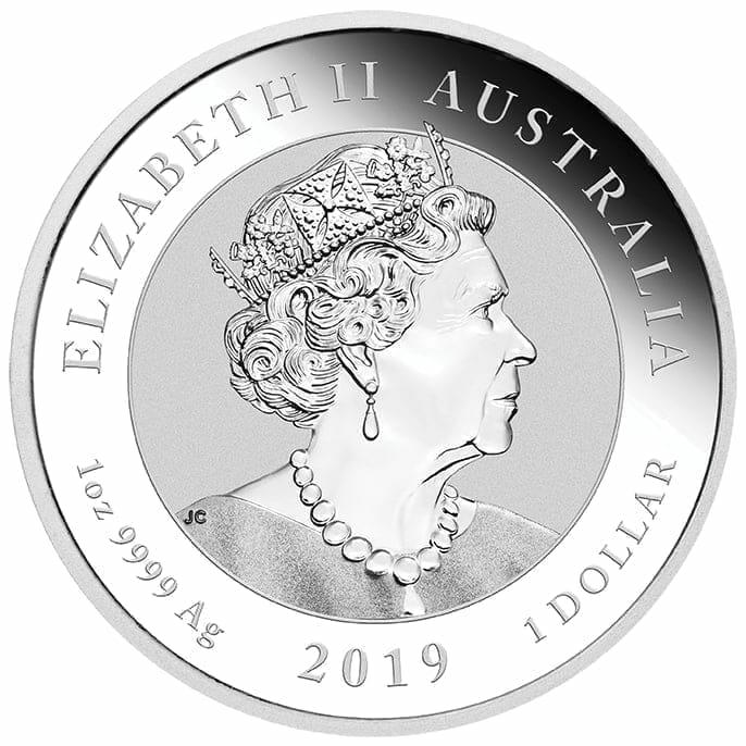2019 1oz Australian Double Dragon .9999 Silver Coin 2