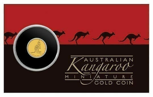 2016 Mini Roo 0.5g .9999 Gold Coin in Card 3