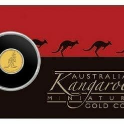 2016 Mini Roo 0.5g .9999 Gold Coin in Card 6
