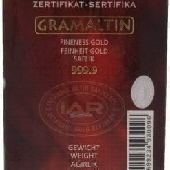Istanbul Gold Refinery 1g .9999 Gold Minted Bullion Bar 3