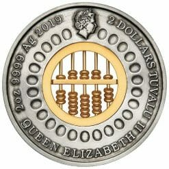 2019 Abacus 2oz Silver Antiqued Coin 6