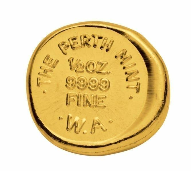 Perth Mint 1/2oz .9999 Gold Cast Bullion Bar 2