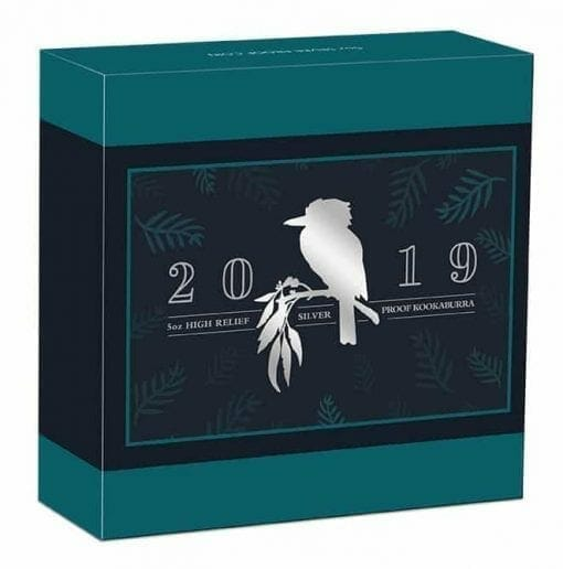 2019 Australian Kookaburra 5oz Silver Proof High Relief Coin 5