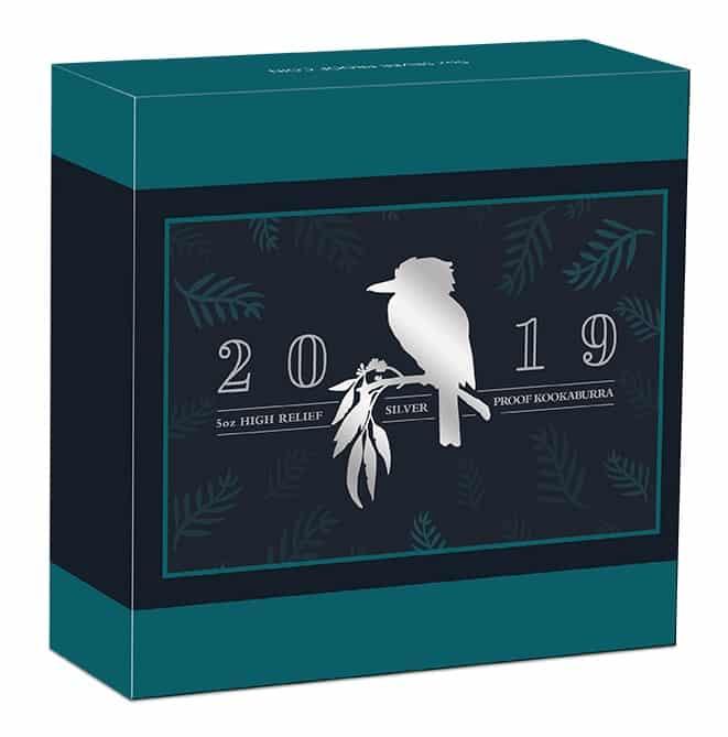 2019 Australian Kookaburra 5oz Silver Proof High Relief Coin 5