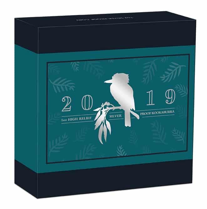 2019 Australian Kookaburra 1oz Silver Proof High Relief Coin 9