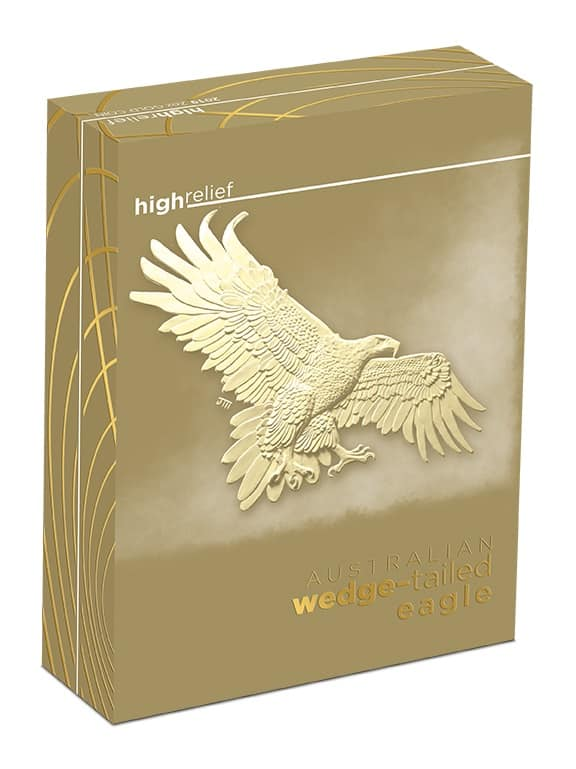 2019 Australian Wedge-Tailed Eagle 2oz Gold Proof High Relief Coin 5