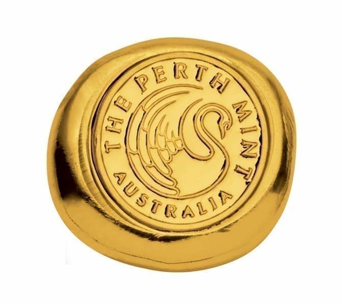 Perth Mint 1/2oz .9999 Gold Cast Bullion Bar 1