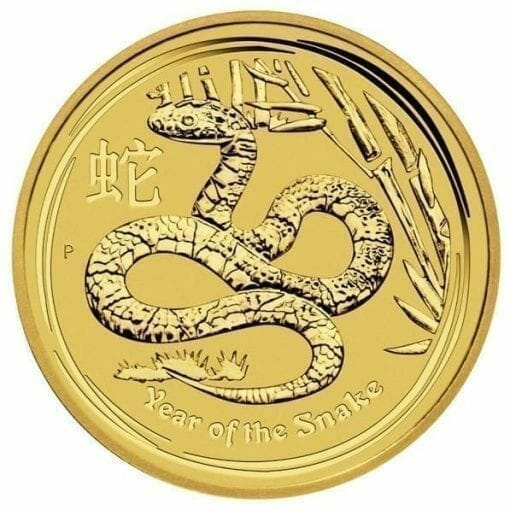 2013 Year of the Snake 1/4oz .9999 Gold Bullion Coin - Lunar Series II 1