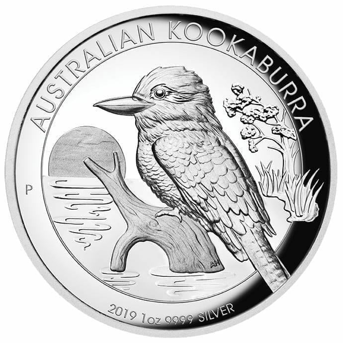 2019 Australian Kookaburra 1oz Silver Proof High Relief Coin 1