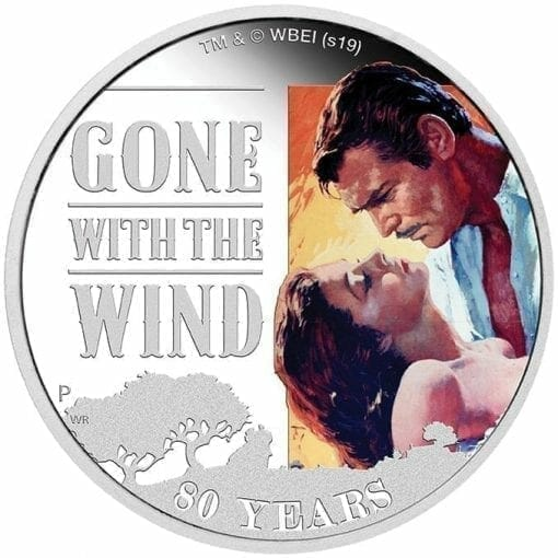 2019 Gone with the Wind 80th Anniversary 1oz Silver Proof Coin 1