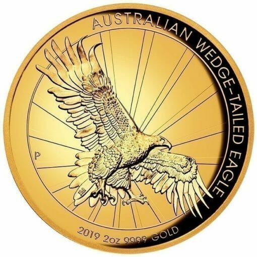 2019 Australian Wedge-Tailed Eagle 2oz Gold Proof High Relief Coin 1
