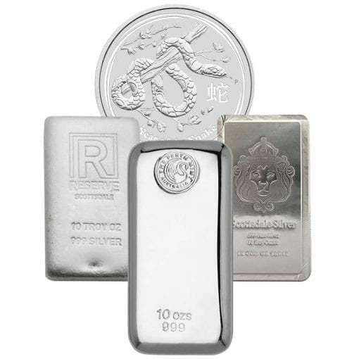 Low Premium 10oz Silver Bullion 1