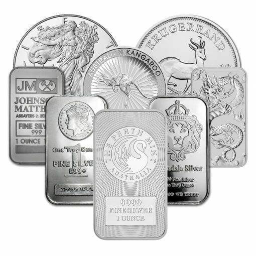 Low Premium 1oz Silver Bullion 1