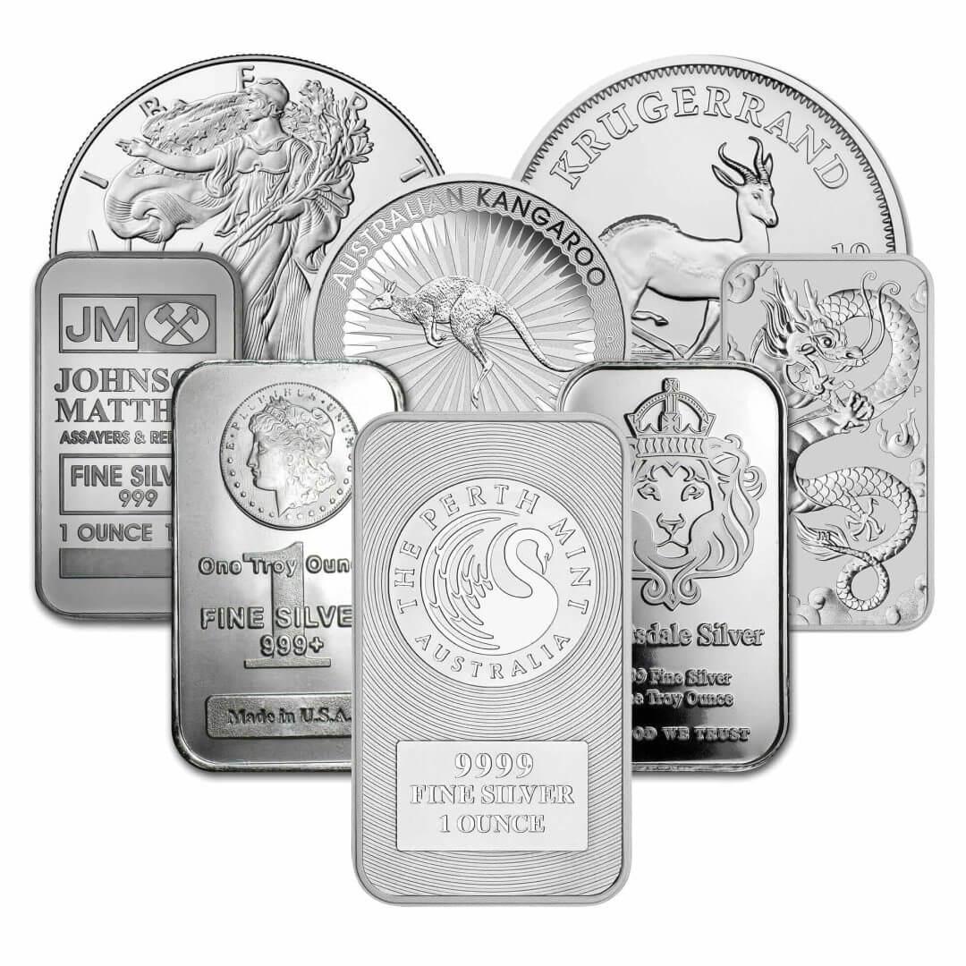 Low Premium 1oz Silver Bullion 1