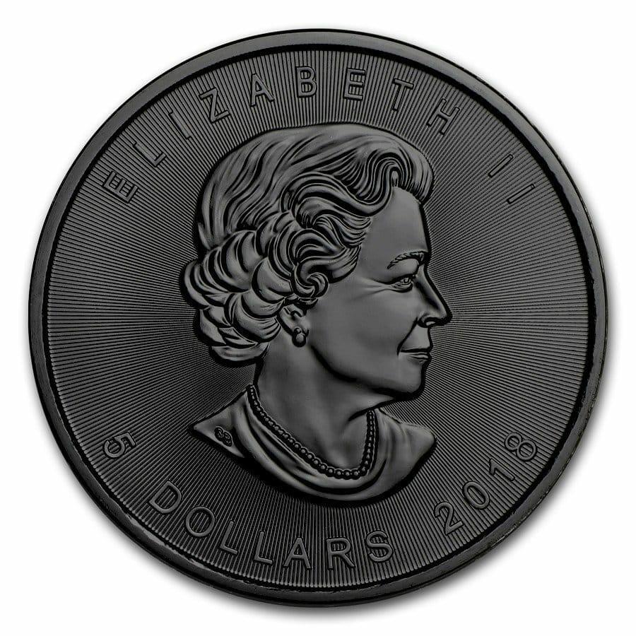 2018 Burning Animals - Lion Maple Leaf 1oz Silver Coin 2