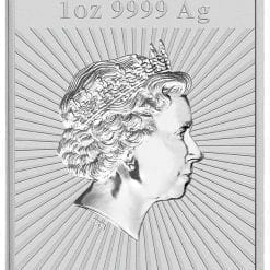 2018 Dragon 1oz .9999 Silver Bullion Rectangular Coin 5