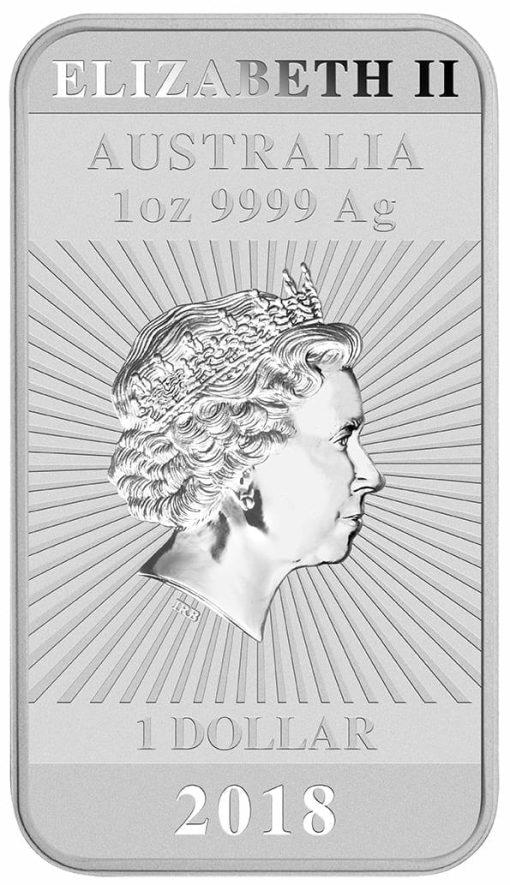 2018 Dragon 1oz .9999 Silver Bullion Rectangular Coin 3