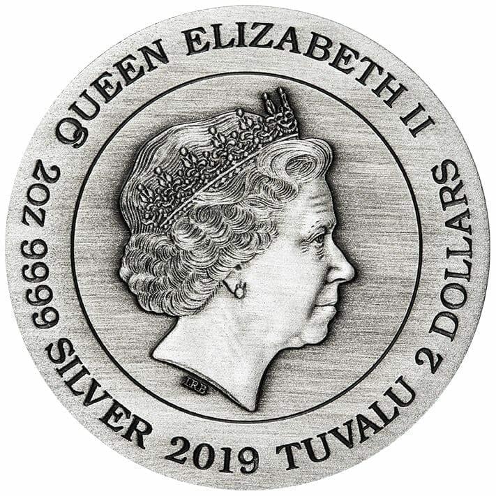2019 Alien 40th Anniversary 2oz Silver Antiqued Coin 10