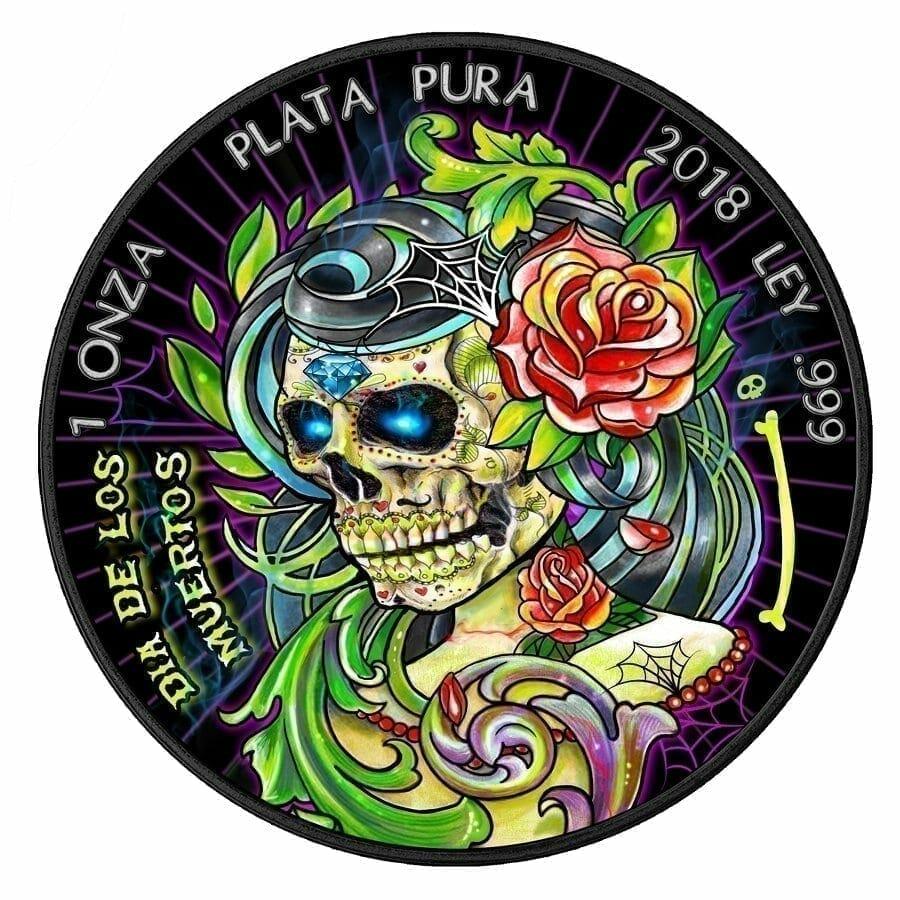 2018 Dia De Los Muertos / Day of the Dead Mexican Libertad 1oz Silver Coin 1