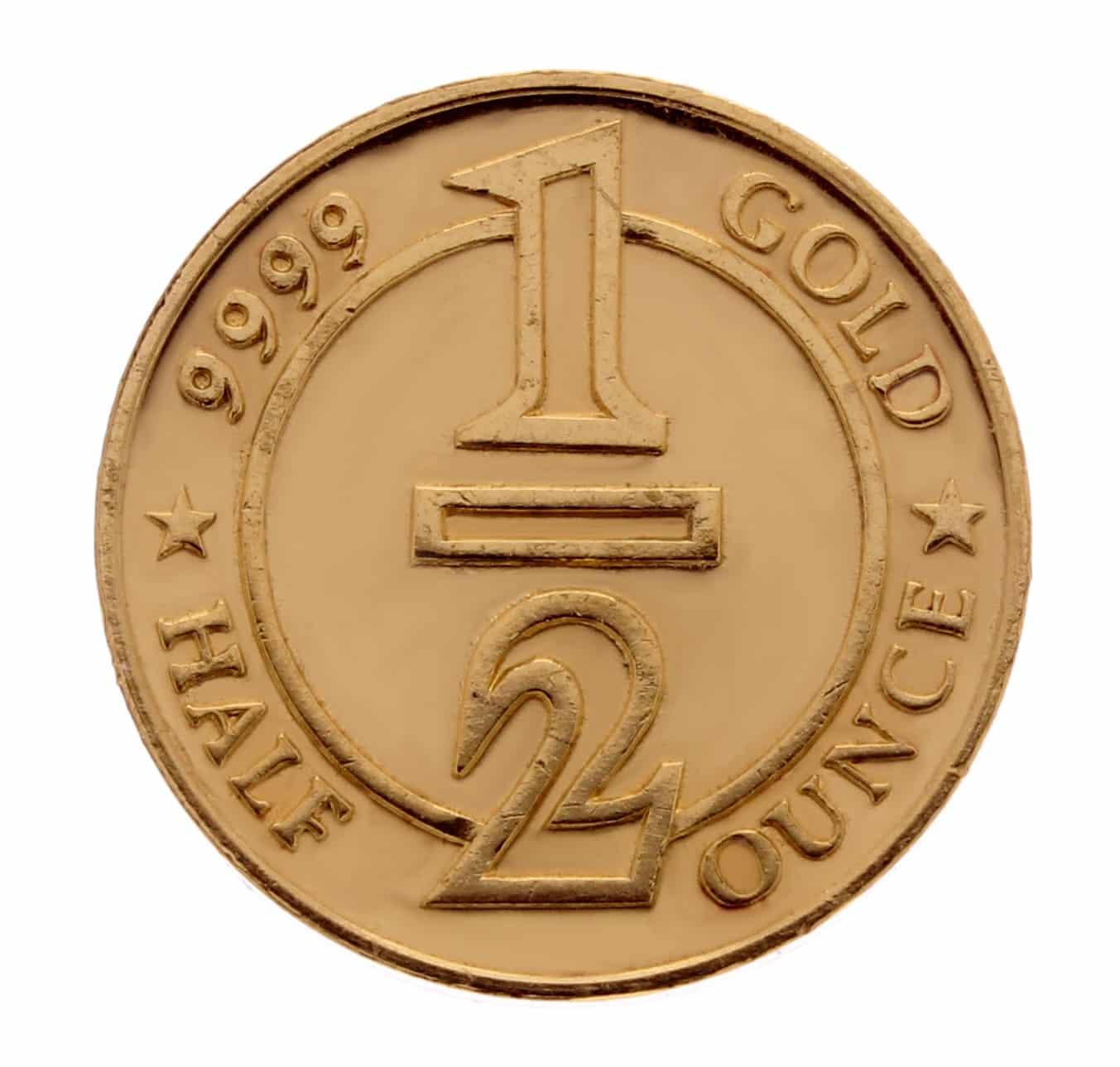 ABC 1/2oz .9999 Gold Cast Bullion Round 1