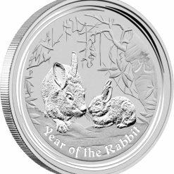 2011 Year of the Rabbit 1oz Silver Bullion Coin - Lunar Series II 4