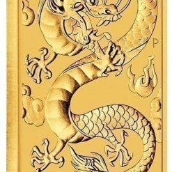 2019 Dragon 1oz Gold Bullion Rectangular Coin 4