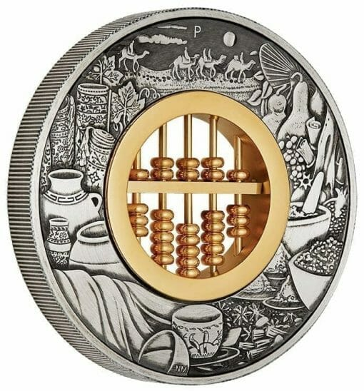 2019 Abacus 2oz Silver Antiqued Coin 3