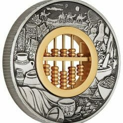 2019 Abacus 2oz Silver Antiqued Coin 7