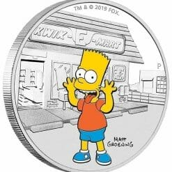 2019 The Simpsons - Bart Simpson 1oz .9999 Silver Proof Coin 7