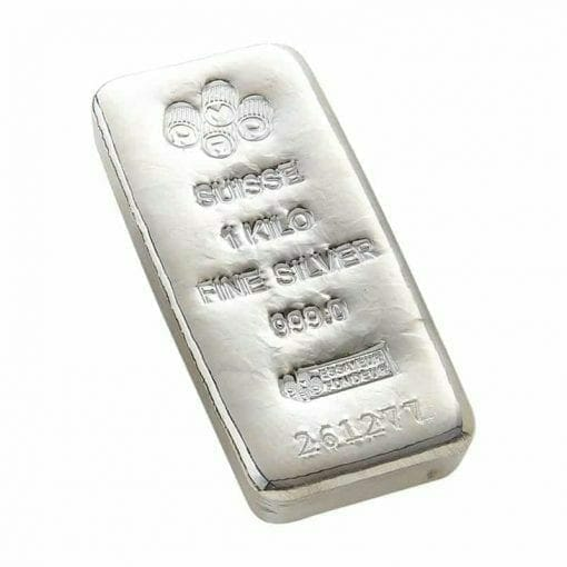 PAMP Suisse 1kg .999 Cast Silver Bullion Bar 1