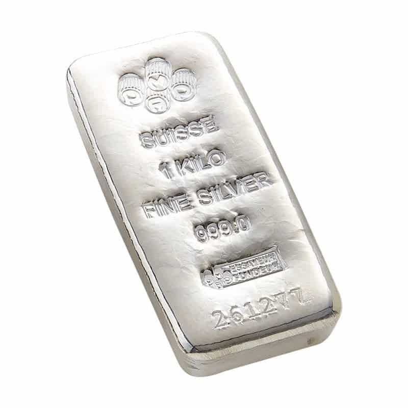 PAMP Suisse 1kg .999 Cast Silver Bullion Bar 1
