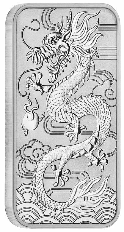 2018 Dragon 1oz .9999 Silver Bullion Rectangular Coin 2