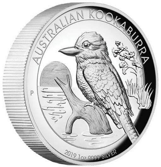 2019 Australian Kookaburra 1oz Silver Proof High Relief Coin 3