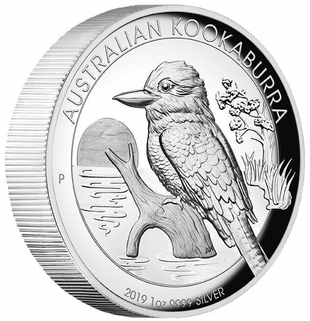 2019 Australian Kookaburra 1oz Silver Proof High Relief Coin 7