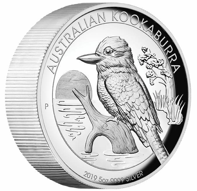 2019 Australian Kookaburra 5oz Silver Proof High Relief Coin 7